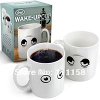 mugs - 96 Fedex Free Shippping Ceramic Wake UP Eyes Color Changing Cup Coffee Mug Creative Mugs For Milk Water With Retail Package xx