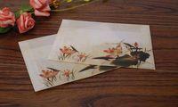acid free paper - Western Sulfuric acid paper envelope Chinese wind red lotus snaps Translucent B6 envelope