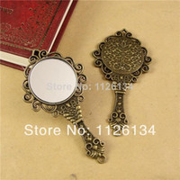 Wholesale A1478 Fashion retro personality Exaggeration mini Mirror necklace jewelry vintage accessories