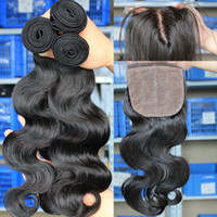 Cheap silk base closure with bundles Best silk base lace closures