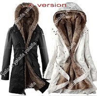 long down coat - 2014 winter new thicken keep warm women down parkas hooded long section female Wool liner cotton padded coat women NVQ15