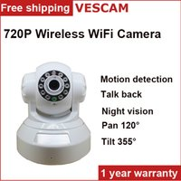 Wholesale 720P wireless wifi ip camera p2p night vision SD MicroTF card video Recording Store alarm Remote viewing security wifi ip camera