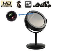 Wholesale HD P Resolution Swivel Hidden Mirror Camera Mini DVR with Motion Detection mirror spy camera