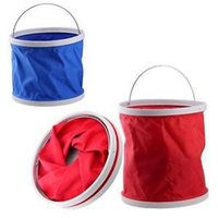 Wholesale 9L Outdoor Camping Folding Car Washing Folding L fishing Hiking Bucket Barrel