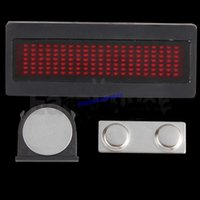 Wholesale Hot sale RED LED Message Sign Scrolling Name advertising business card show Display board Panel Badge
