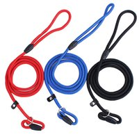 dog collars and leashes - The flexible and expandable cm Pet Nylon Adjustable Training Walk Lead Dog Strap Rope Traction Harness Collar Leash Chain cm cm cm