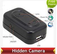 Compra Mini cámara itinerante-El registrador ocultado mini DV DVR de la cámara de la cámara 1280 * 960 del cargador del USB del recorrido de F168 4GB libera el envío