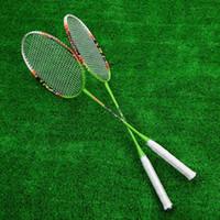 Wholesale Durable Lightweight Carbon Fiber Aluminum Alloy Training Badminton Racket Racquet with Carry Bag Sport Equipment