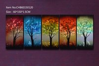 Wholesale Metal painting Abstract Modern Sculpture Painting HandmadeCHB60150120