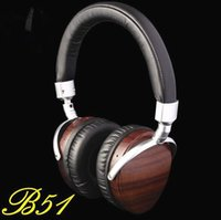 beryllium metal - Original High B51 HiFi Wooden Metal Headphone Headset Earphone With Beryllium Alloy Driver And Portelain Leather Cushion as MSUR