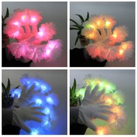 adult novelty manufacturers - Floral Adult Wrist Gloves La Flower Led Manufacturers Selling Party Entertainment Glow Glove for Party Finger Flashing Glow Light LED Gloves
