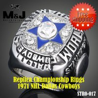 Wholesale 1971 National Dallas Hockey Cowboys sale replica super bowl championship rings men jewelry STR0