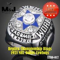 all'ingrosso dallas championship ring-1971 Nazionali Dallas Cowboys Hockey campionato super bowl gioielli anelli uomini vendita replica all'ingrosso di trasporto STR0-017 libero