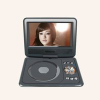 Reproductor de DVD portátil de 7,8 pulgadas, mini TV HD, pantalla giratoria de 180 ganchos, tarjeta SD Direct Direct, SWIVELFlip, CD, VCD, mp3-cd, juego