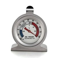 Wholesale Temperature Instruments High Quality Stainless Steel Dail Dial Type Metal Thermometer for Refrigerator Fridge Kitchen Freezer Use