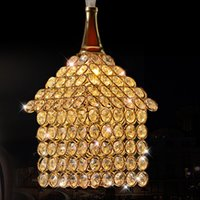 Wholesale K9 Crystal Single Pendant - 2016 new modern K9 crystal pendant light chandelier lights Single Head and Three head chandelier lights