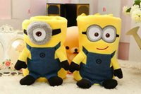 Wholesale baby styles minions conditioning blanket pillow Despicable me cushion plush toys dolls minion office nap blankets christmas gift cm