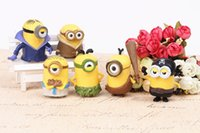 Wholesale Despicable Me minions Movie Character PVC Figures Toy Kids toys Doll Toy Despicable Me Cake Topper set by DHL sets