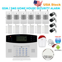 fire alarm - LCD Wireless GSM Autodial SMS Home House Alarm Systems Office Security Burglar Intruder Alarm systems