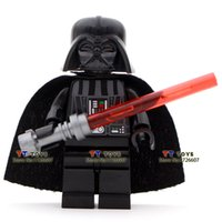 Wholesale Single sale Shen Yuan Star Wars Darth Vader darth revan with a red Lightsaber Minifigures Building Block Children Toy Gift