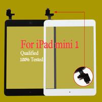 al por mayor digitalizador para ipad mini-Envío libre por dhl o el ccsme el 100% terminado para el iPad mini 1 mini 2 pantalla del digitizador del tacto con el cable casero de la flexión del botón del IC