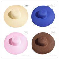 Wholesale 8 Color New Korean Big Hat Shading Sun Hat Fashion Simple For Travel Send Ribbon Cheap