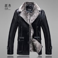 advance motorcycles - Fall Winter men s fur one piece business casual advanced Cortical motorcycle plus size thickening coat M XL
