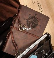 Wholesale quot x5 quot Vintage Retro Leather Cover Notebook Journal Diary Blank String Nautical E701