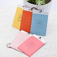 Wholesale Leather Luggage Tags Travel Paper Suitcase Tag Carrying case Tag Packet Label Wrap Easily recognizable Bag Parts With The lanyard