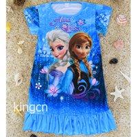 pajama - 2015 Frozen dress Anna Elsa Princess Kids Pajama Age Snow Queen Girl Nightie Sister Forever Pyjamas Women Freeshipping nightwon