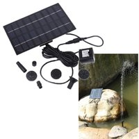 Wholesale Solar Brushless Pump For Water Cycle Pond Fountain Rockery Fountain freeshipping Dropshipping