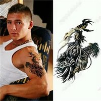 arm dragon tattoos - Temporary tattoos large hot sale dragon arm fake transfer tattoo stickers hot sexy men women spray waterproof designs Cheap