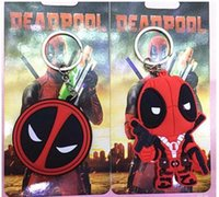 anime girl mask - Deadpool Keychains Anime Cartoon X men Deadpool Figure Mask PVC Pendant Keychain Metal Stainless Steel Key Ring Keyrings Toys Gifts