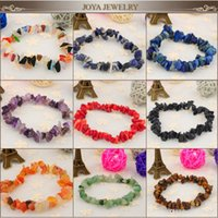 South American agate stone for sale - 2015 Hot Sale Agate crystal stone bead bracelets bangles MM natural loose chip stone stretch bracelets gemstone jewelry for women