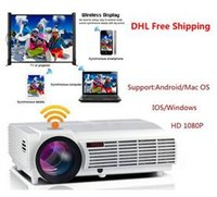 Wholesale New Cheap Factory Price New LED96 Android WIFI Video HDMI USB DVB T x800 Full HD P Home Theater D LED projector DHL