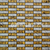 aluminum composite panel - Mosaic comes with a metal aluminum composite panel mosaic wall stickers gum adhesive DIY background stock M15