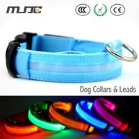 Wholesale Fashionable LED Collars Pet Products Electric Lighting Dog Collar Leash Fancy Nylon Material Waterproof
