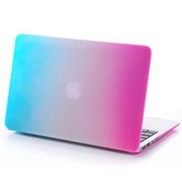 Wholesale 100PCS Rainbow Matte Hard Shell Laptop Cases Full Body Protector Case Cover For Apple Macbook Air Pro quot quot
