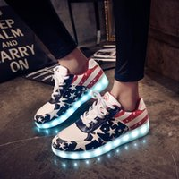 Wholesale Led shoes for adults men shoes woman huarache zapatos mujer fashion plus size led Luminous shoes