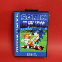 Wholesale DC MD SS SEGA Memery Cards Soinc The Lost Worlds Game Cartridge bit MD Game Card With Retail Box For Sega Mega Drive