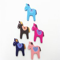 wood craft - Wood Horse Wooden Buttons shape Holes Different Colors Printed Sewing Scrapbooking Crafts Wood Buttons for Scrapbooking and Craft