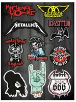 band pages - Exterior Accessories Car Stickers Full page band stickers Metallica Motorhead rock guitar stickers waterproof box affixed stickers