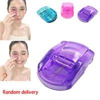 Wholesale 2015 hot Mini Portable Curling Eyelash Eye Lashes Tool Curler Manual Color Random makeup tools high quality