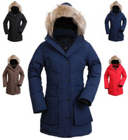 hat lady red - goose down coats thicken wind proof keep warm long down outercoat for lady in colors