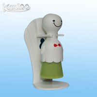 Wholesale Patented Sunny Doll Seaweed Bristles Classical Shape Facial Washing Brush with Plastic Drying Stand Holder