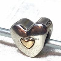 Acheter Charme joyeux anniversaire-Argent 925 14K Perle Charm réel Or Joyeux anniversaire Convient European Style Pandora Bijoux Pendentifs Bracelets Colliers