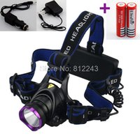 battery changers - CREE XML T6 Headlamp LED Headlight T6 LED Head lamp Lm LED Head Light Flashlight Torch with AC Car Changers Battery