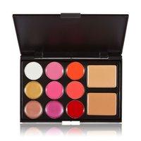 Wholesale Anself Professional Color Makeup Kit Color Lip Gloss Lipstick Color Cosmetic Concealer Women Makeup Palette Kit