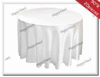 banquet tablecloths cheap - 90 quot Round White Cheap Tablecloths For Round Table Satin Fabric Wedding Banquet Decorations