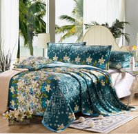 flannel sheets - Europe Green Print Flannel blanket bedding warm Soft Baby bedsheet blankets x200cm TV Air conditioning blanket flat sheet